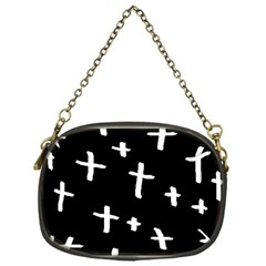 White Cross Chain Purses (one Side)