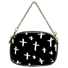 White Cross Chain Purses (two Sides)