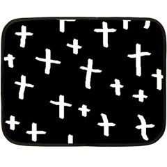 White Cross Double Sided Fleece Blanket (mini)
