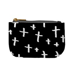 White Cross Mini Coin Purses