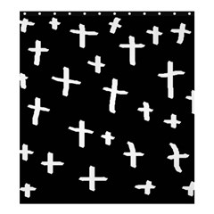 White Cross Shower Curtain 66  X 72  (large)