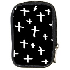 White Cross Compact Camera Cases