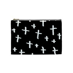 White Cross Cosmetic Bag (medium)