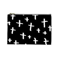White Cross Cosmetic Bag (large)