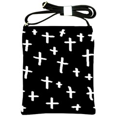 White Cross Shoulder Sling Bags