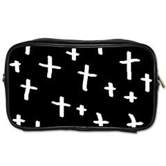 White Cross Toiletries Bags 2 Side