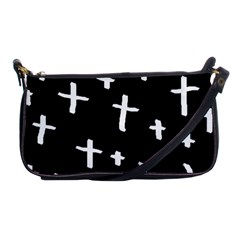 White Cross Shoulder Clutch Bags