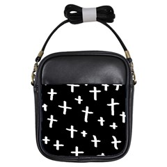 White Cross Girls Sling Bags