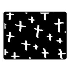 White Cross Fleece Blanket (small)