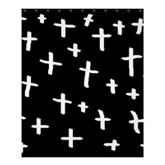 White Cross Shower Curtain 60  X 72  (medium)