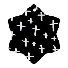 White Cross Ornament (snowflake)
