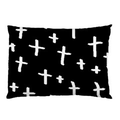 White Cross Pillow Case (two Sides)