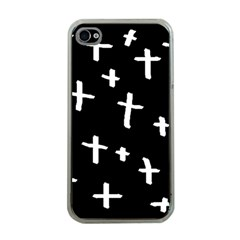 White Cross Apple Iphone 4 Case (clear)