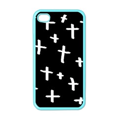 White Cross Apple Iphone 4 Case (color)