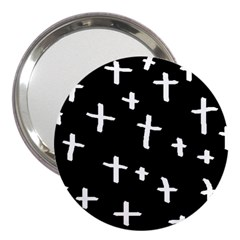 White Cross 3  Handbag Mirrors