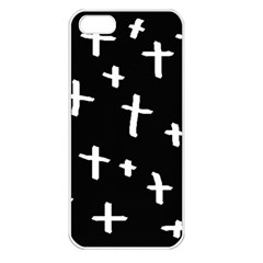 White Cross Apple Iphone 5 Seamless Case (white)