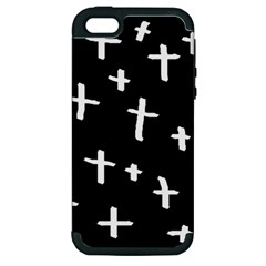 White Cross Apple Iphone 5 Hardshell Case (pc+silicone)