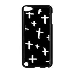 White Cross Apple Ipod Touch 5 Case (black)