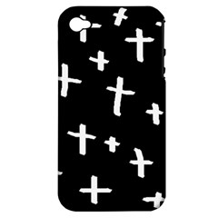 White Cross Apple Iphone 4/4s Hardshell Case (pc+silicone)