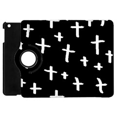 White Cross Apple Ipad Mini Flip 360 Case