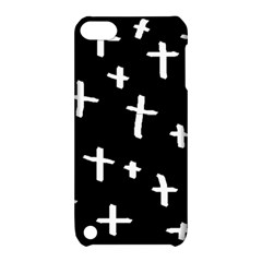 White Cross Apple Ipod Touch 5 Hardshell Case With Stand