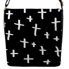 White Cross Flap Messenger Bag (s)
