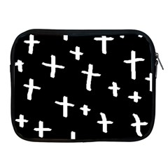 White Cross Apple Ipad 2/3/4 Zipper Cases