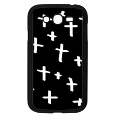 White Cross Samsung Galaxy Grand Duos I9082 Case (black)