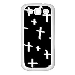 White Cross Samsung Galaxy S3 Back Case (white)