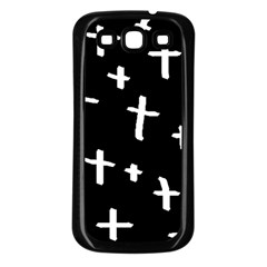 White Cross Samsung Galaxy S3 Back Case (black)