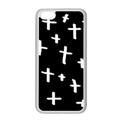 White Cross Apple Iphone 5c Seamless Case (white)