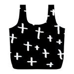White Cross Full Print Recycle Bags (L)  Front