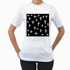 White Cross Women s T Shirt (white)