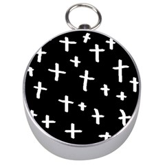 White Cross Silver Compasses