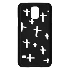 White Cross Samsung Galaxy S5 Case (black)