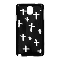 White Cross Samsung Galaxy Note 3 Neo Hardshell Case (black)