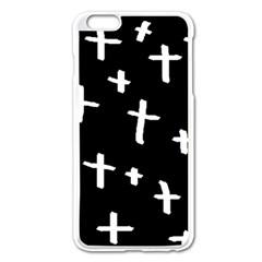 White Cross Apple Iphone 6 Plus/6s Plus Enamel White Case