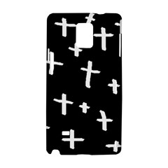 White Cross Samsung Galaxy Note 4 Hardshell Case