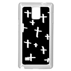 White Cross Samsung Galaxy Note 4 Case (white)