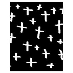 White Cross Drawstring Bag (large)