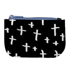 White Cross Large Coin Purse