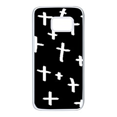 White Cross Samsung Galaxy S7 White Seamless Case