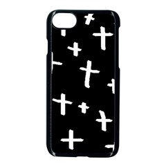 White Cross Apple Iphone 7 Seamless Case (black)
