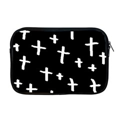 White Cross Apple Macbook Pro 17  Zipper Case