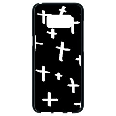 White Cross Samsung Galaxy S8 Black Seamless Case