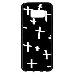 White Cross Samsung Galaxy S8 Plus Black Seamless Case