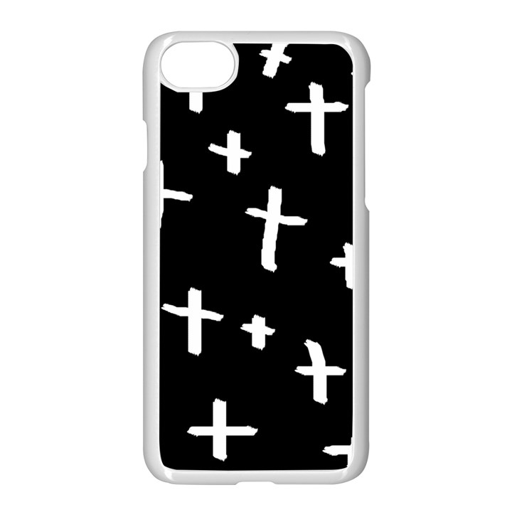 White Cross Apple iPhone 8 Seamless Case (White)