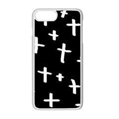 White Cross Apple Iphone 8 Plus Seamless Case (white)