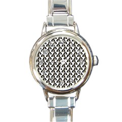 Angry Girl Pattern Round Italian Charm Watch