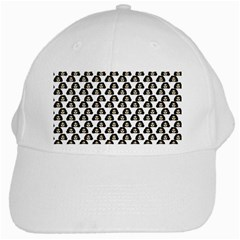 Angry Girl Pattern White Cap